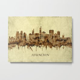 Asuncion Paraguay Cityscape Metal Print