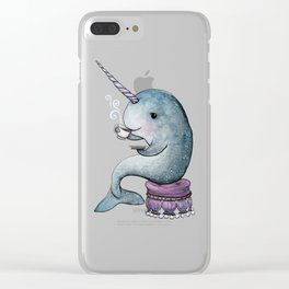 Narwhal Teatime Clear iPhone Case
