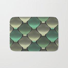 Ornamental cages green pattern Bath Mat