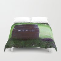 whiskey Duvet Covers featuring Whiskey Keg by gdesai