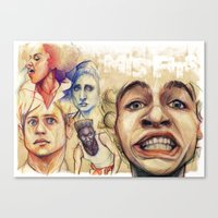 misfits Canvas Prints featuring Misfits  by Seventy-three