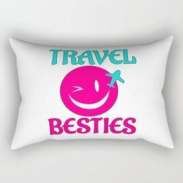 Travel Besties Rectangular Pillow