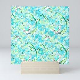 Mermaid Pattern 03 Mini Art Print