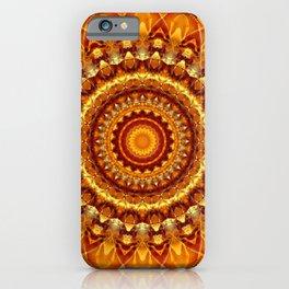 Mandala bright yellow iPhone Case