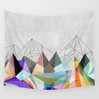 geometry Wall Tapestries featuring Colorflash 3 by Mareike Böhmer