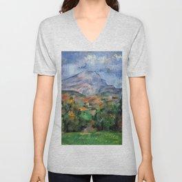 """Paul Cezanne """"Mont Sainte-Victoire"""", c.1890 Unisex V-Neck"""