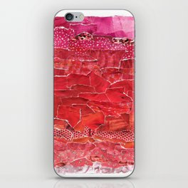 Red Ombre Collage iPhone Skin