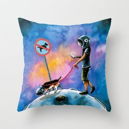 moonwalking Throw Pillow