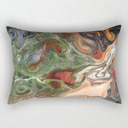 Green Rust Black Brown Lava Flow Rectangular Pillow