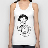 luffy Tank Tops featuring Luffy by Ida Dobnik