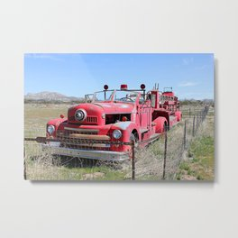 Abandoned Fire Truck Metal Print