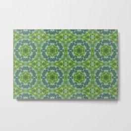 Light Blue & Green Circles Metal Print