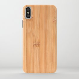 Cool elegant light brown bamboo wood print iPhone Case