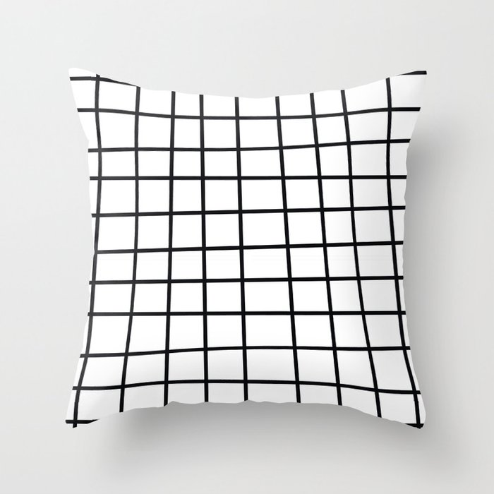 Spoiled Grid Throw Pillow