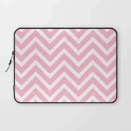 Chevron Stripes : Pink & White Laptop Sleeve