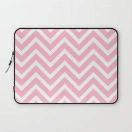 Chevron Stripes : Pink & White Laptop Sleeve