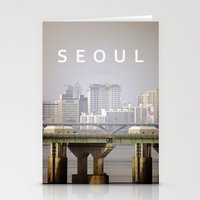 seoul Stationery Cards featuring SEOUL by Sara Ahlgren