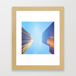 Architecture Study, Downtown Los Angeles Framed Art Print