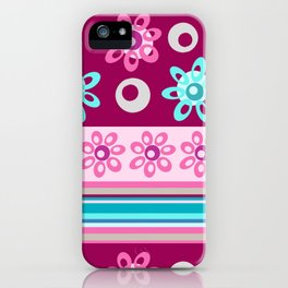 Happy Place Stripe in Pink iPhone Case
