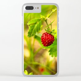 Wild strawberry Clear iPhone Case