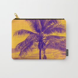 Golden Black Sand Beaches and Palm trees Carry-All Pouch