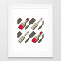 tool Framed Art Prints featuring Tool Time by Pattern Design