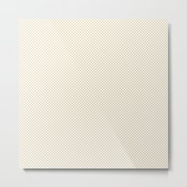 Houndstooth White & Cream small Metal Print