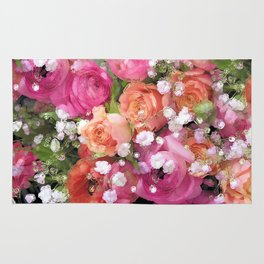 Baby's Breath and Candy Roses Rug