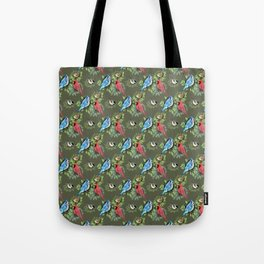 Birds and Branches (Dark) Tote Bag