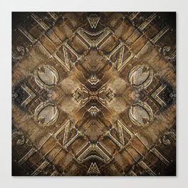 Metal Vintage Letter Abstract Canvas Print