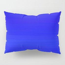 Solid Cobalt Blue - Brush Texture Pillow Sham