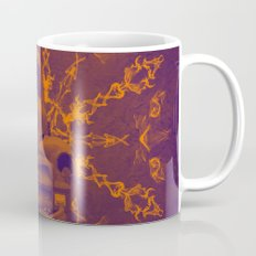 Abstract rusty car in purple and orange Mug