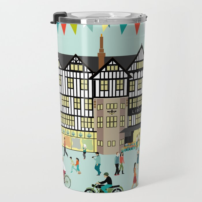 Art Print of Liberty of London Store - Daytime Travel Mug