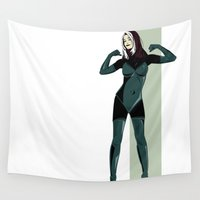 rogue Wall Tapestries featuring Rogue by Andrew Formosa