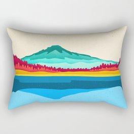 Mount Hood and Trillium Lake Rectangular Pillow