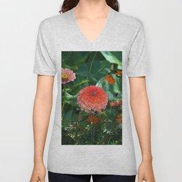 Flowers in Juicy Citrus Colors Unisex V-Neck