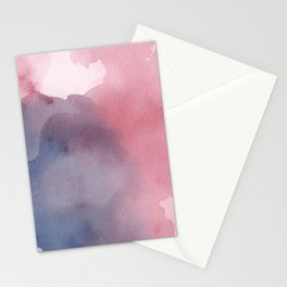 Abstract Blush pink Navy blue print Stationery Cards