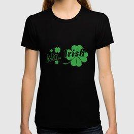 Mr Irish St Patrick's Day Shamrock Couple T-shirt
