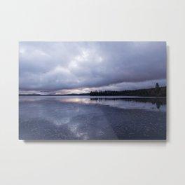 cloudy sunrise Metal Print