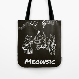 Meowsic Tote Bag