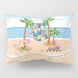 Quilting by the Sea Pillow Sham