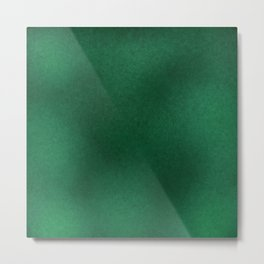 Color gradient and texture 62 dark green Metal Print