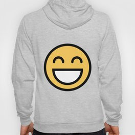 Smiley Face      Cute Grinning With Smiling Eyes And Happy Face Hoody