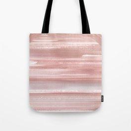 Geode Crystal Rose Gold Pink Tote Bag