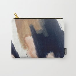 Drift Away [2] - a mixed media abstract piece in pink, brown, and purple Carry-All Pouch