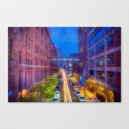 High Line Park Light Trails Canvas Print