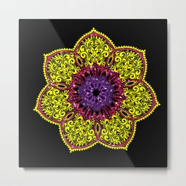 Filigree Bloom Metal Print