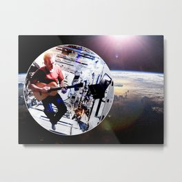 Space Oddity - ISS Chris Hadfield Metal Print