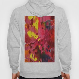 rainbow abstract sunset painting expressionism D06998 colorful mid century modern art by artist Ksavera Hoody