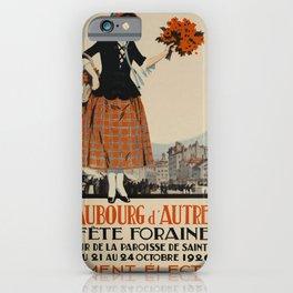 Advertisement Fete Foraine voyage poster iPhone Case